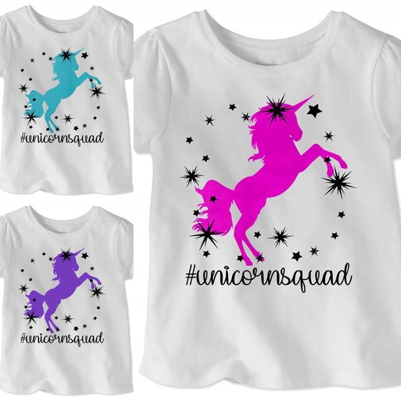 e4fa33fa0 Shirts & Tops | Unicorn Squad Graphic Toddler Girls Tee Unicorns ...